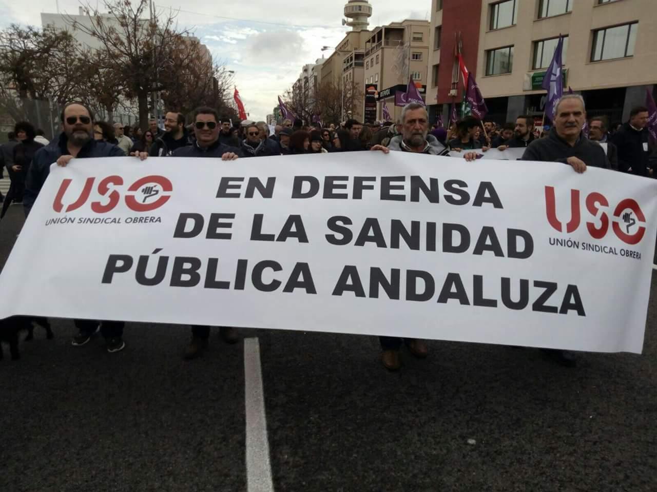 USO EN DEFENSA DE LA SANIDAD PUBLICA ANDALUZA