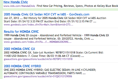 Honda Civic Search