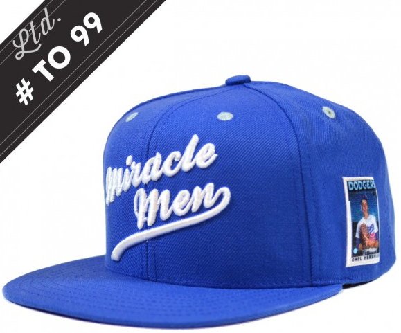 402ca605de0 Topps is now getting into limited edition apparel. They are now offering a  1988 Dodgers  Miracle Men  Orel Hershiser patch Baseball cap limited to  just ...