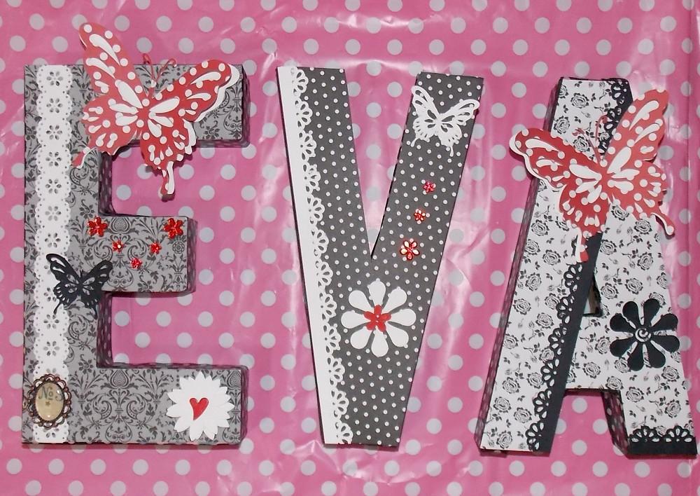 Hola gretel un nombre con letras decoradas scrap - Letras decoradas scrap ...