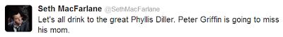 Seth MacFarlane, Phyllis Diller,