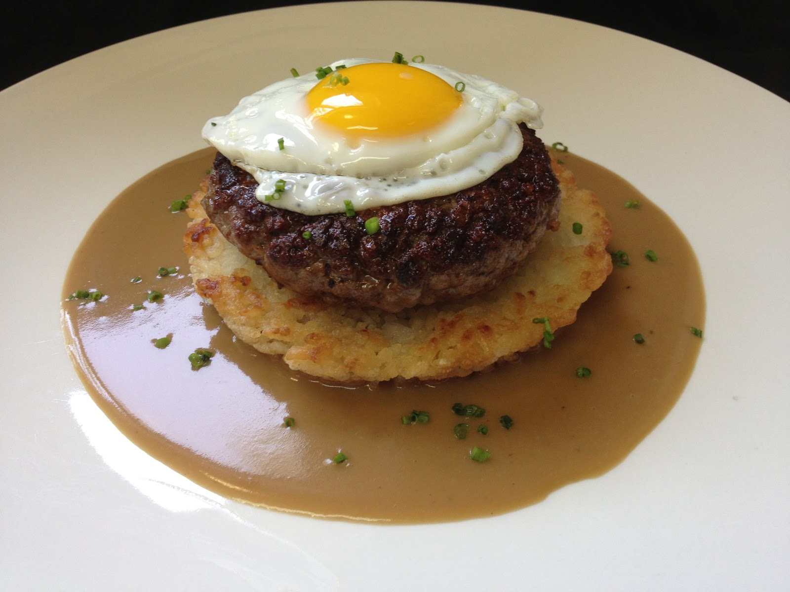 the duo dishes beef loco moco caramelized onion and beef loco moco ...