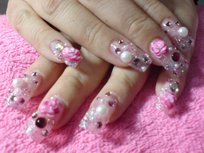 nail nailart 3dnailart arylicnail art kawaii japanese candy design cool best hello kitty candy tokyo 252822529 - Nail Art