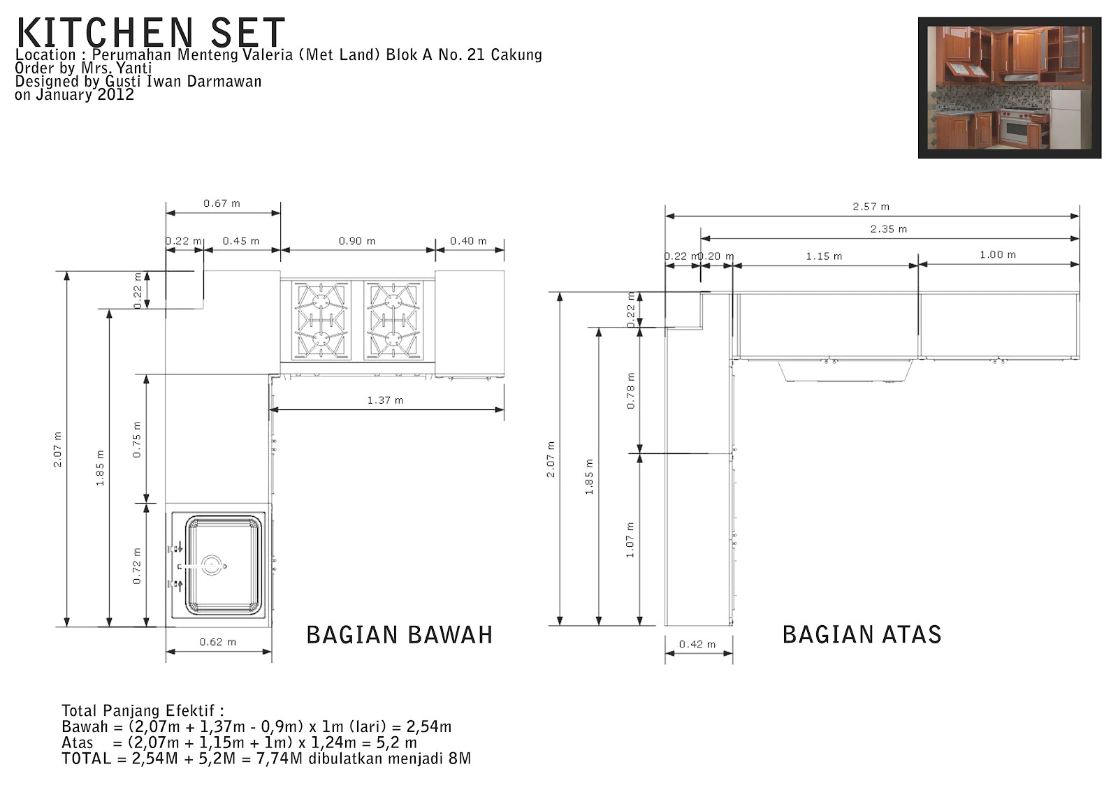 One furnish work simple kitchen set design for Ukuran kitchen set