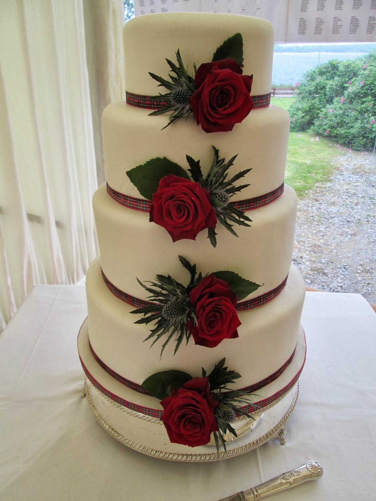 Lauras Cottage Kitchen Wedding Cake Made In June Chocolate - Fudge Wedding Cake