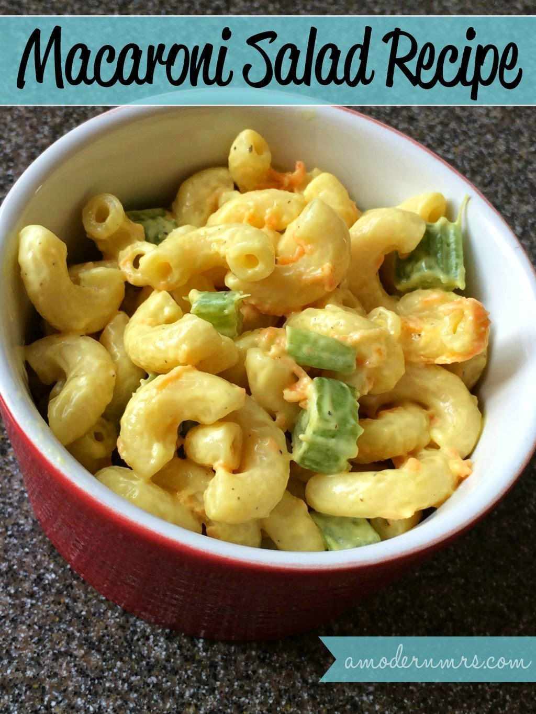 Macaroni Salad #Recipe — A Modern Mrs.
