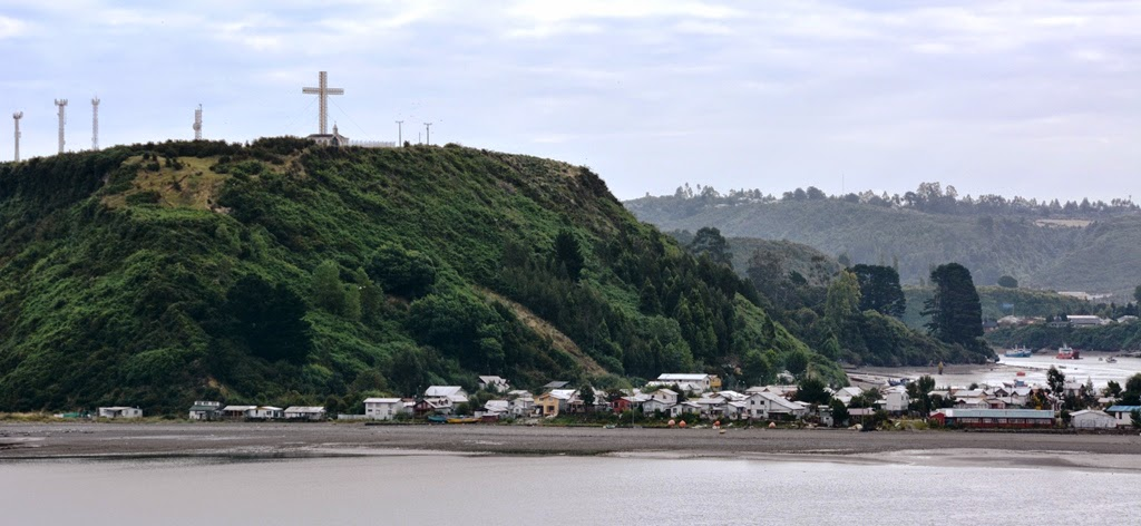 Puerto Montt cross on the mountain