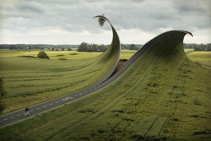 Carretera foto surrealista irreal