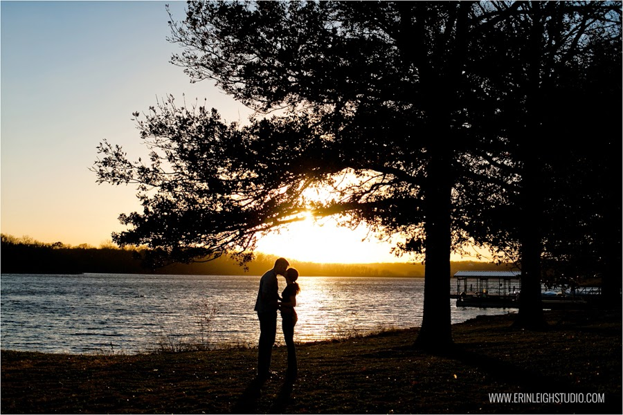 silhouette engagement photos