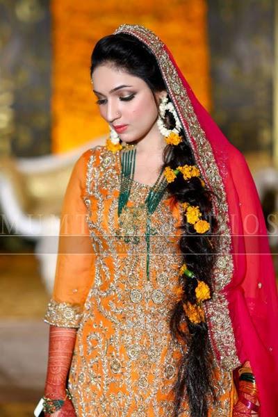 Pakistani Bridal Mehndi Dress Collection