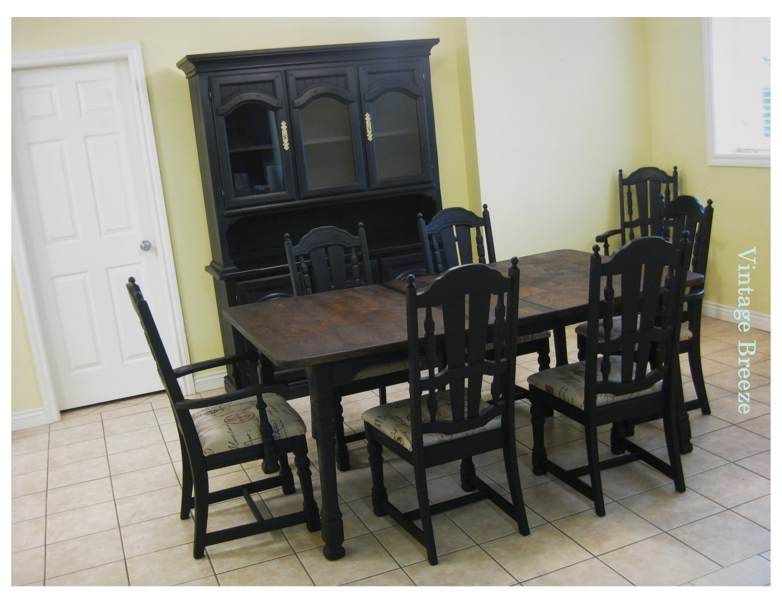 vintage breeze french pub style dining room set