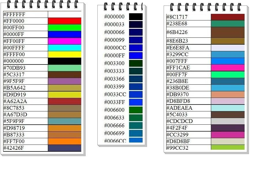 Codigos de colores html codigos html for De colores de colores