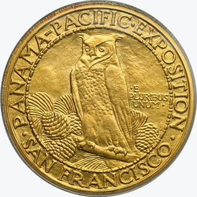 Panama Pacific Exposition 50 Dollars Gold Coin