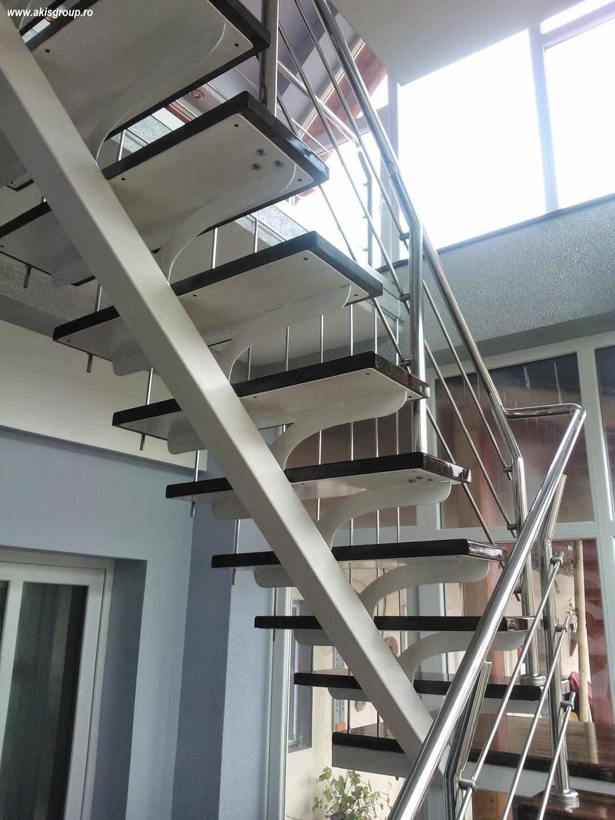 scari de interior scari de interior vopsite alb. Black Bedroom Furniture Sets. Home Design Ideas