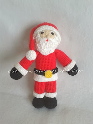 amigurumi papa noel realizado a crochet