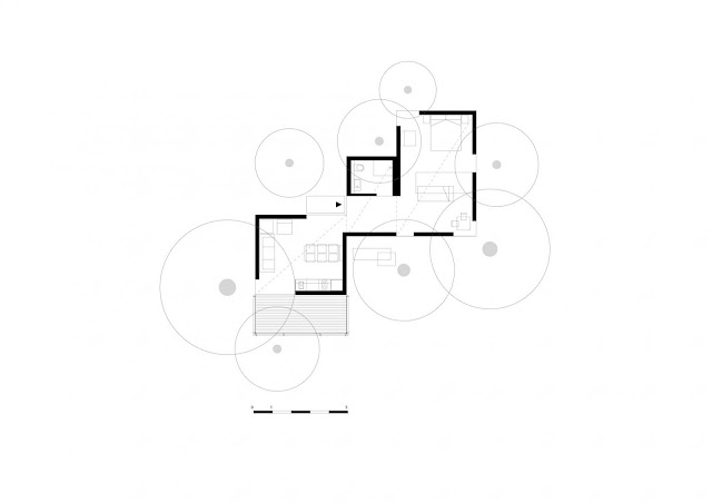 Floor plan of small resort house