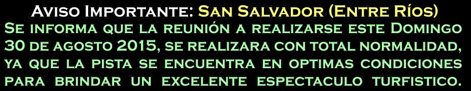 SAN SALVADOR - AVISO