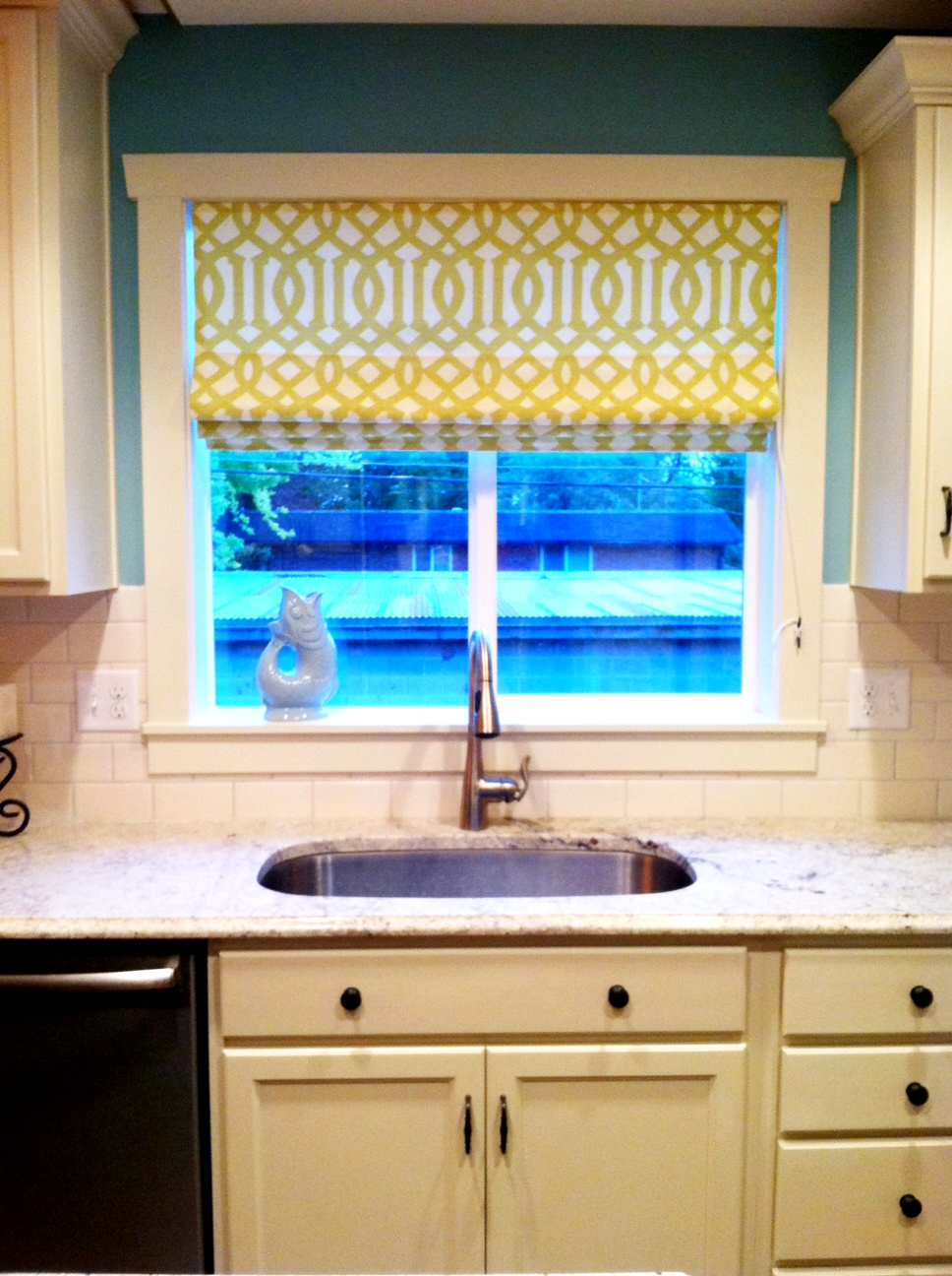 Another happy roman shade story house of jade interiors blog for Roman shades for kitchen windows