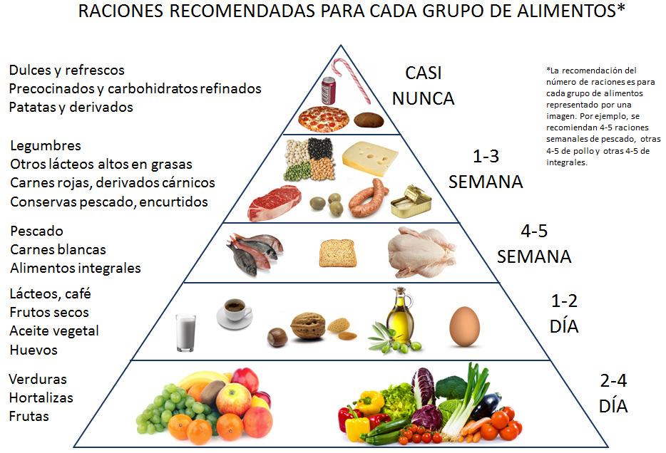 consume diferentes tipos de alimentos durante el dia