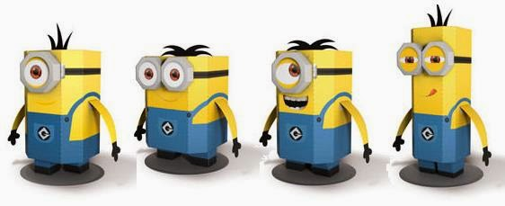 Paper Toy Minions