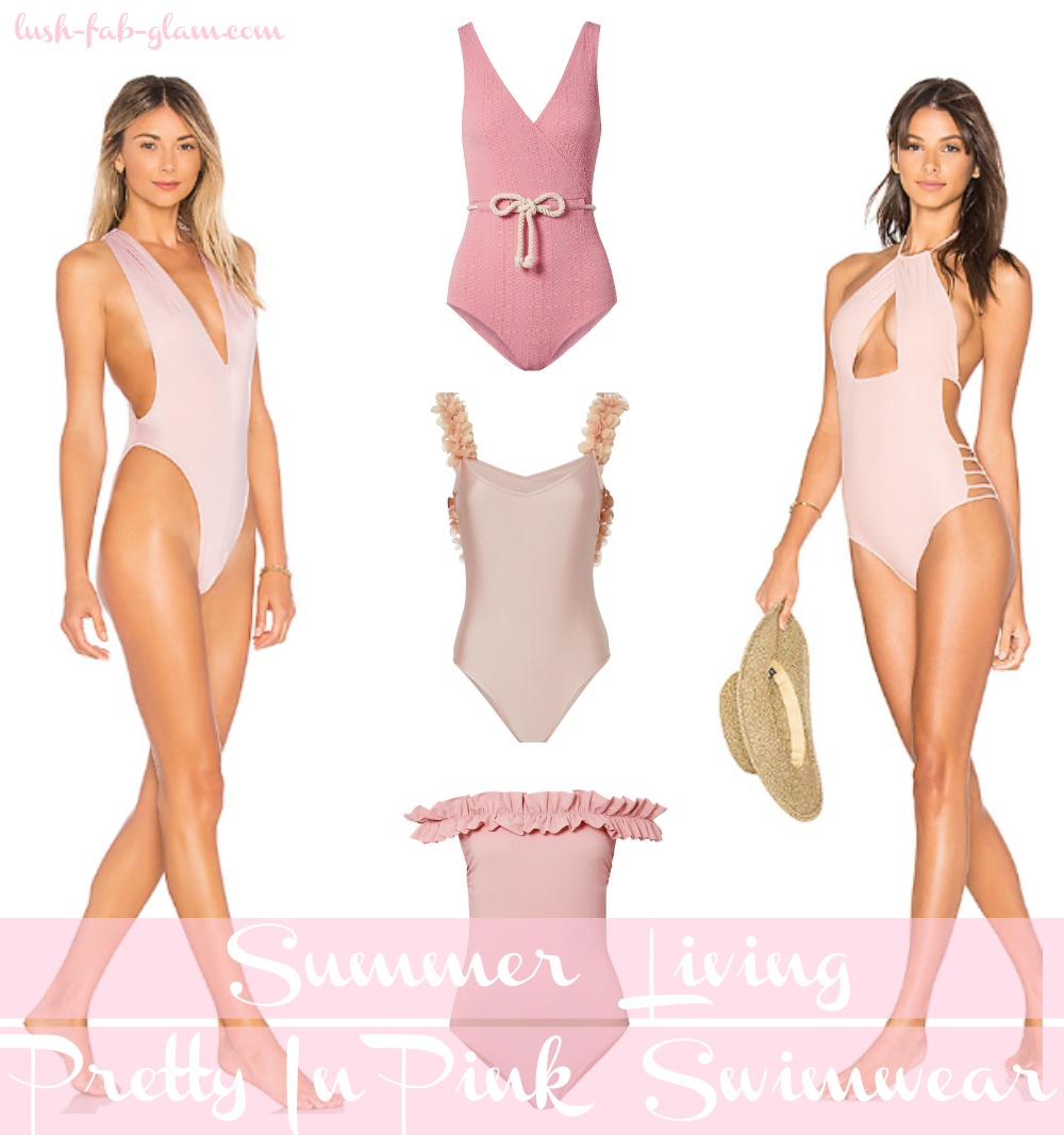 Summer Living: Pretty In Pink Swimwear.