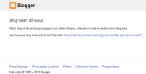 Terselubung Dihapus Pihak blogger