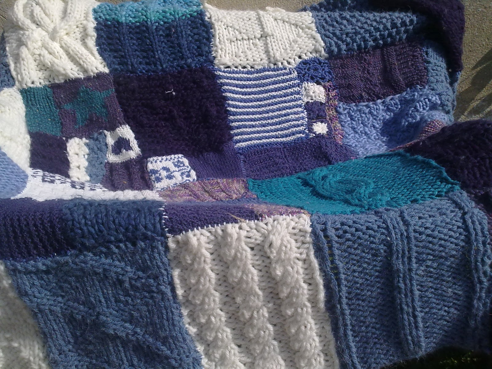 Extemporary knitting: The learn to knit Afghan AKA