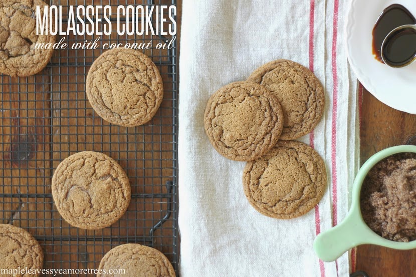 Maple Leaves Sycamore Trees Molasses Cookies Made With Coconut Oil