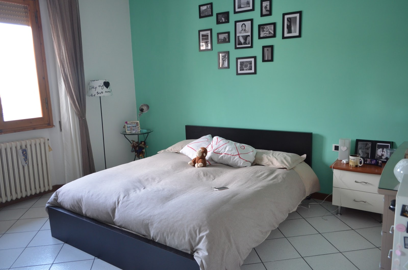 Mascaras and cupcakes room tour - Colore verde pareti camera da letto ...