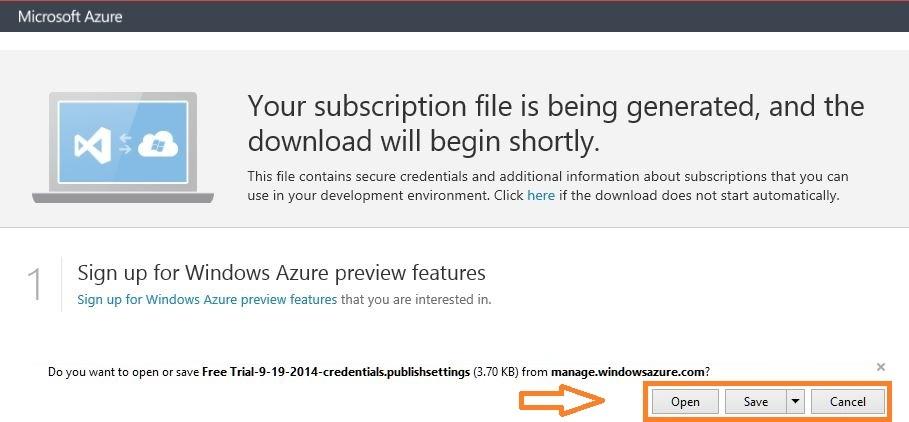 download azure subscription file