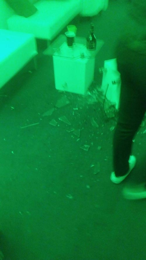 Photos: Olamide And YBNL Gang Vandalized A Room, Broke Things At The Headies - Organizers