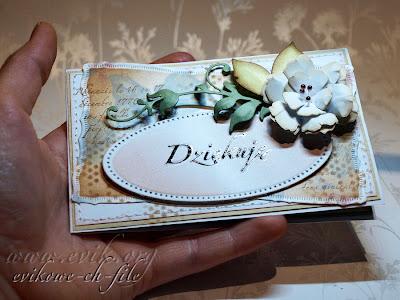 ręcznie robione podziękowanie do przedszkola, podziękowanie, SPELLBINDERS - NESTABILITIES - MAJESTIC ELEMENTS, Sizzix Tim Holtz, Bigz Die, Tattered Florals, Beauty, by Evik, Ewa Jarlińska