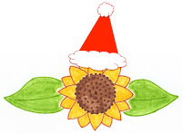 Lucinda Cracknell Massaeg Therapy Christmassy Sunflower logo with hat