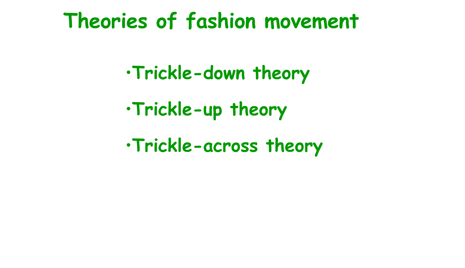 Fashion Theory: a Conceptual Framework by George B. Sproles Trickle down theory fashion simmel
