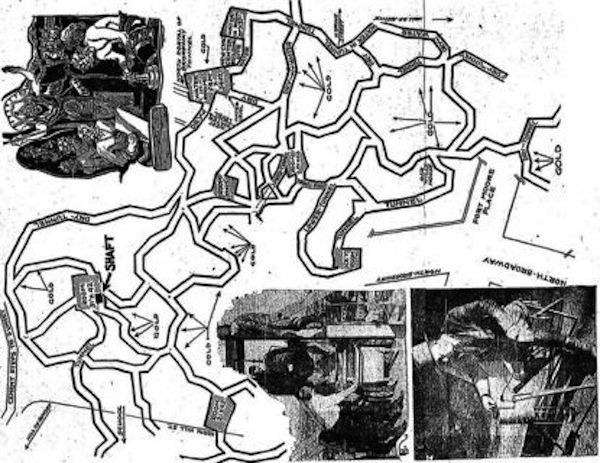 A 1934 Map Of The Secret Lizard City Under Los Angeles