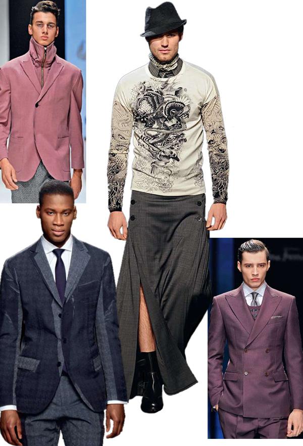 Модные тенденции в мужской одежде осень-зима 2012