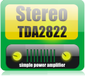 Stereo TDA2822 audio amplifier circuit