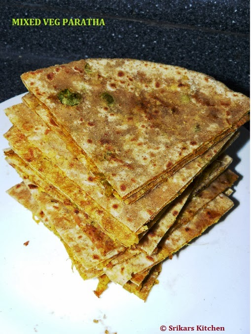 MIXED VEG PARATHA- VEGETABLE PARATHA
