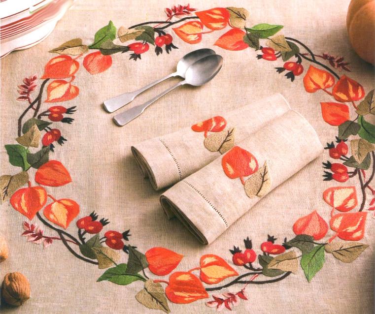 Скатерть  с вышивкой - embroidery