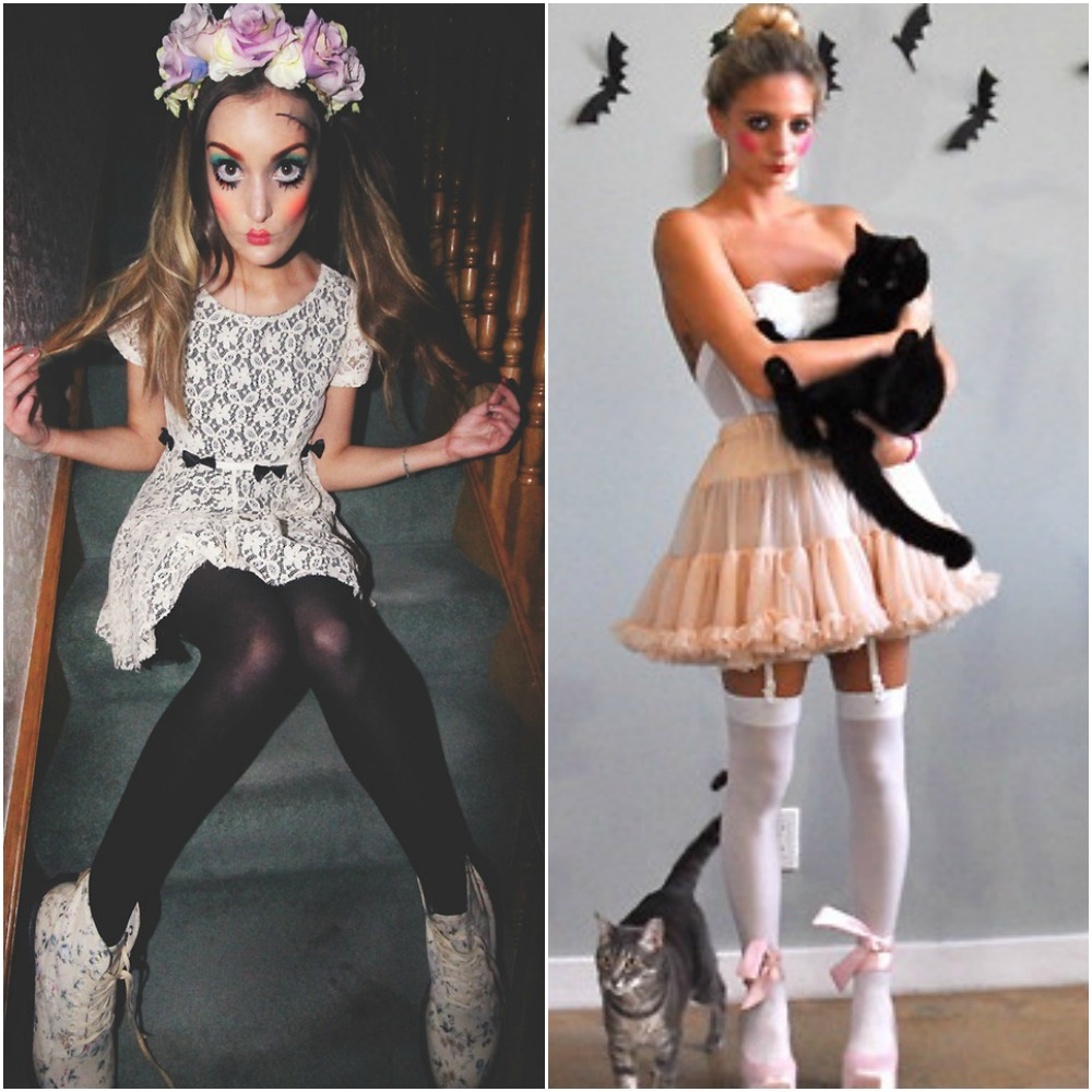 creepy doll halloween fancy dress costume makeip outfit ideas fashion blog 2014