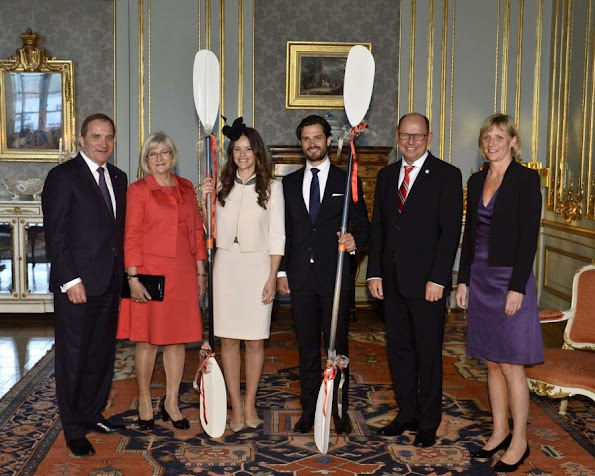 Prince Carl Philip and Sofia Hellqvist held a private reception after their banns of marriage for invited guests in the presence of their parents