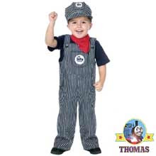 Cute Thomas the tank engine bags candy pails steam railroad train engineer Thomas Halloween costume
