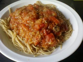 Volkoren pasta met groentesaus