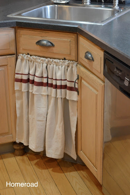 Skirted Sink Amp DIY Kitchen Tour Homeroad