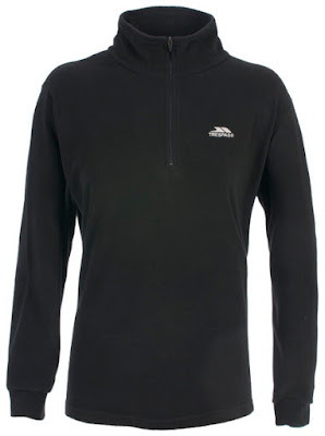 Trespass Women's Louviers AirTrap100 1/2 Zip Fleece Jumper - Black