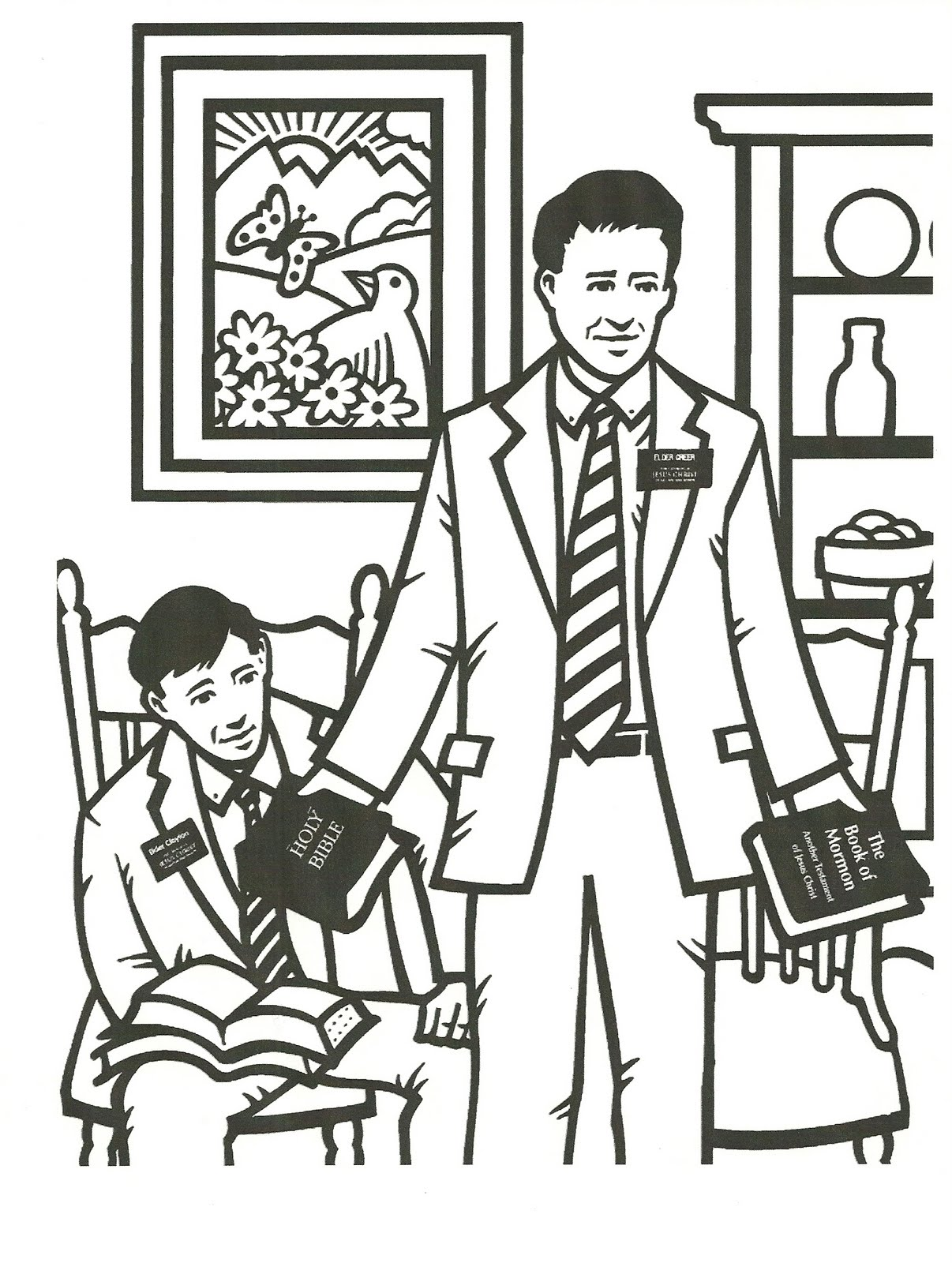 missionary coloring page lds - happy clean living primary 3 lesson 24