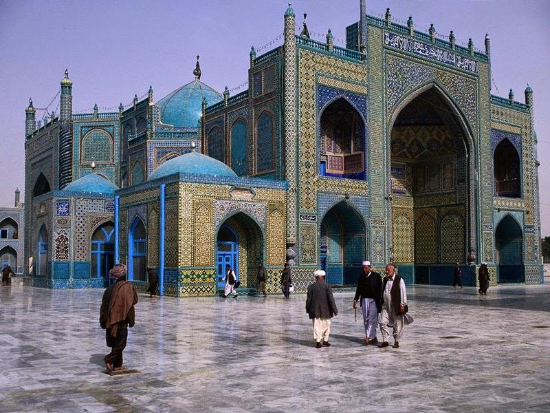 Masjid Biru Mazar-i Sharif, Afghanistan