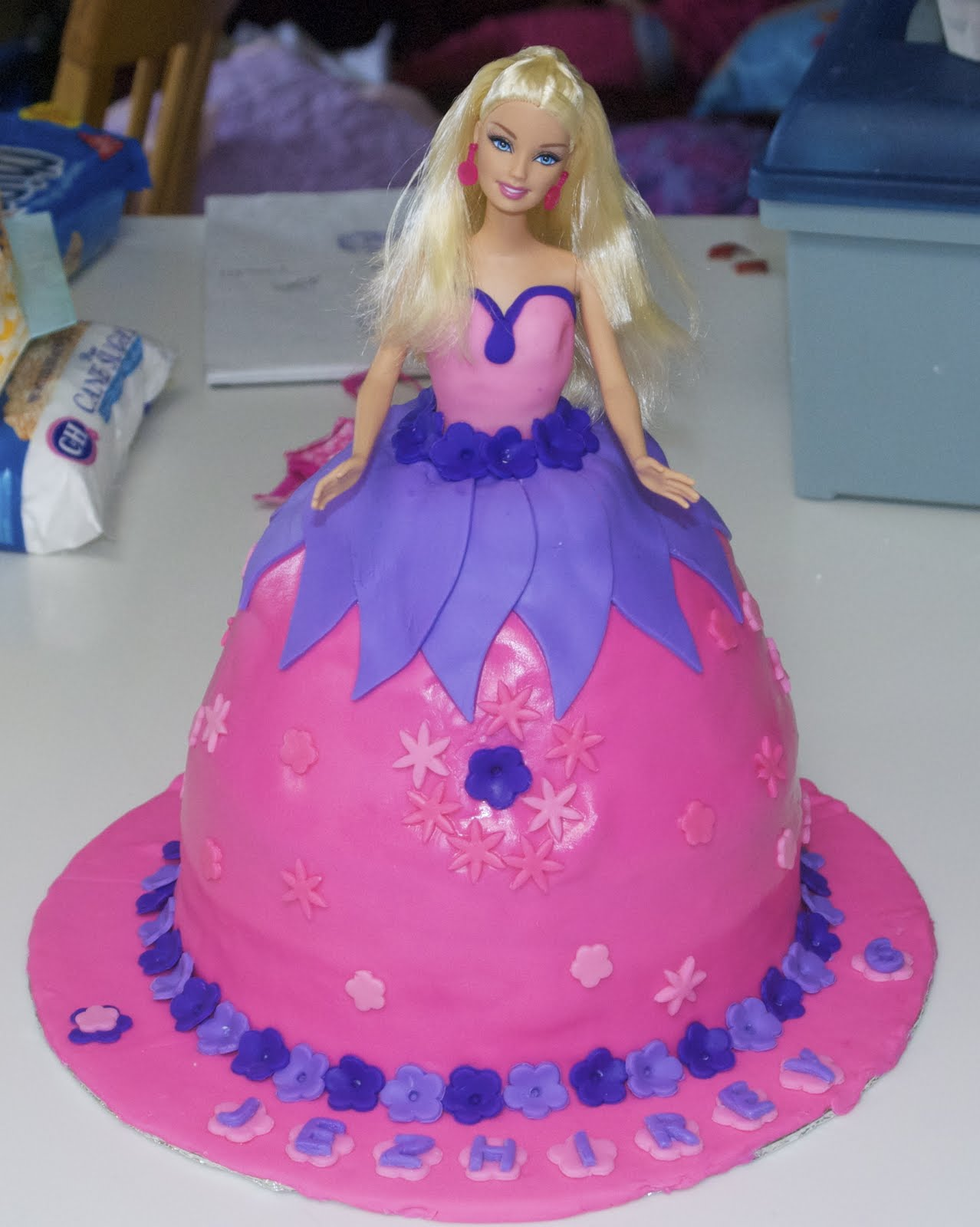 barbie dress cake