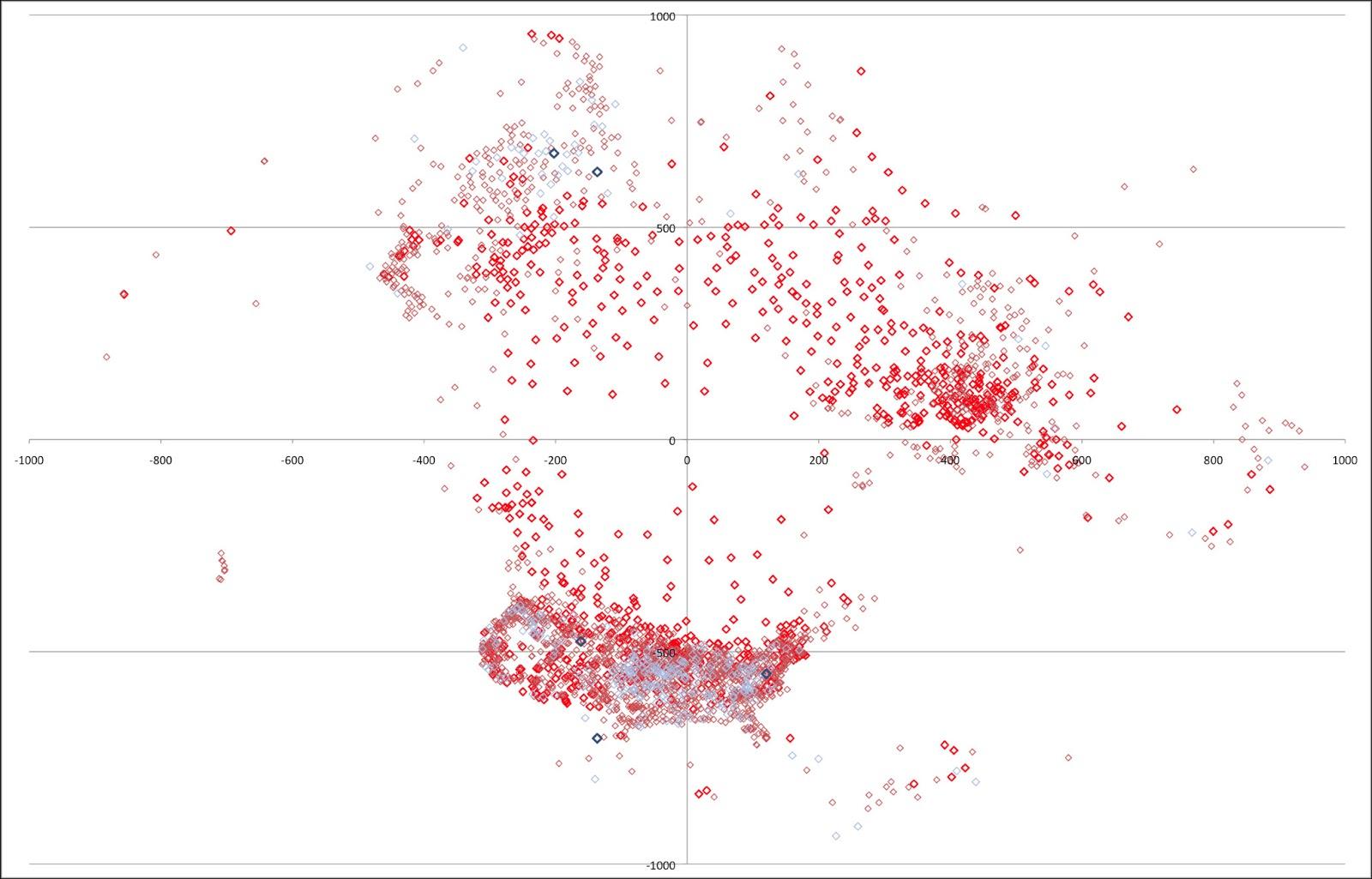 Math Year 2013 Consistent Weather Station Map Northern Hemisphere