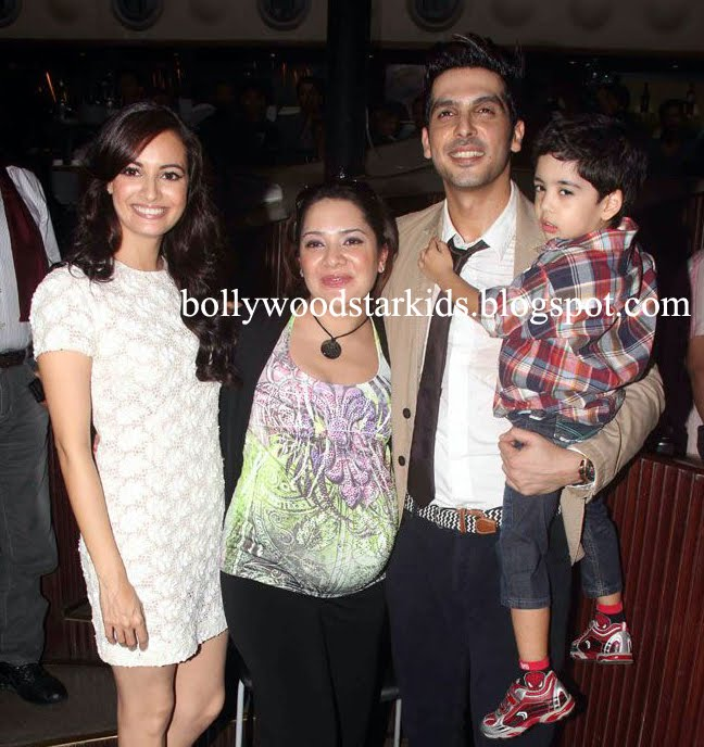 bollywood star kids zayed khan with his son zidaan at the
